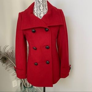 ARITZIA t.babaton Howell Wool Cashmere Coat Red Sm